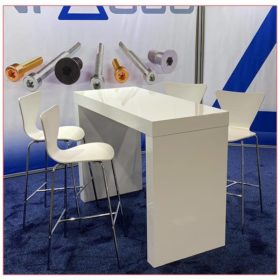 Format Bar Table with White Tendy Bar Stools - LV Exhibit Rentals in Las Vegas