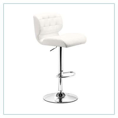 Formula Bar Stools - White - Trade Show Furniture Rentals from LV Exhibit Rentals in Las Vegas