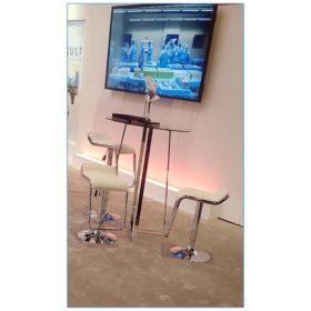 Furgus Adjustable Bar Stools - White - LV Exhibit Rentals in Las Vegas