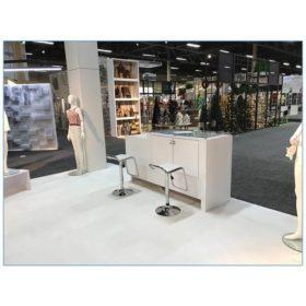 Furgus Bar Stools - White - LV Exhibit Rentals in Las Vegas