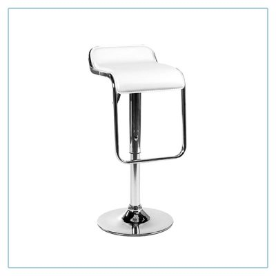 Furgus Bar Stools - White - Trade Show Furniture Rentals from LV Exhibit Rentals in Las Vegas