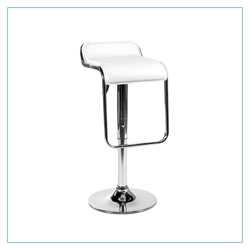 Furgus Bar Stools - White - Trade Show Furniture Rentals from LV Exhibit Rentals in Las Vegas