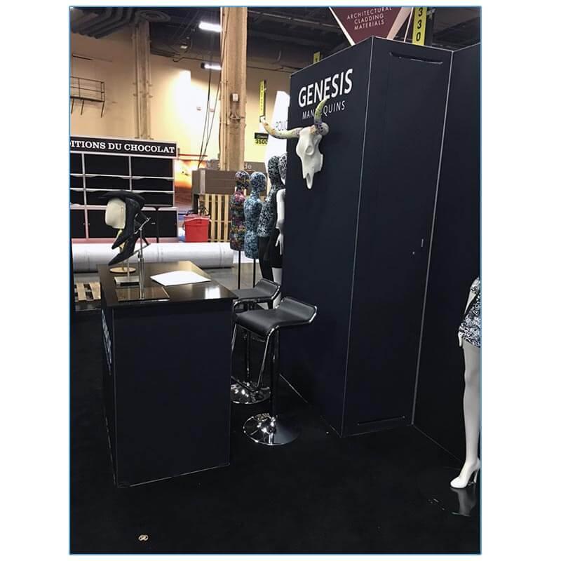 Furgus Bar Stools in Black - LV Exhibit Rentals in Las Vegas