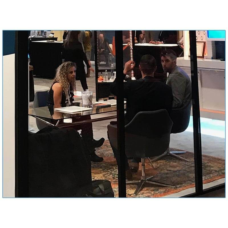 Giovana Lounge Chairs - Gray - Vonage - LV Exhibit Rentals in Las Vegas