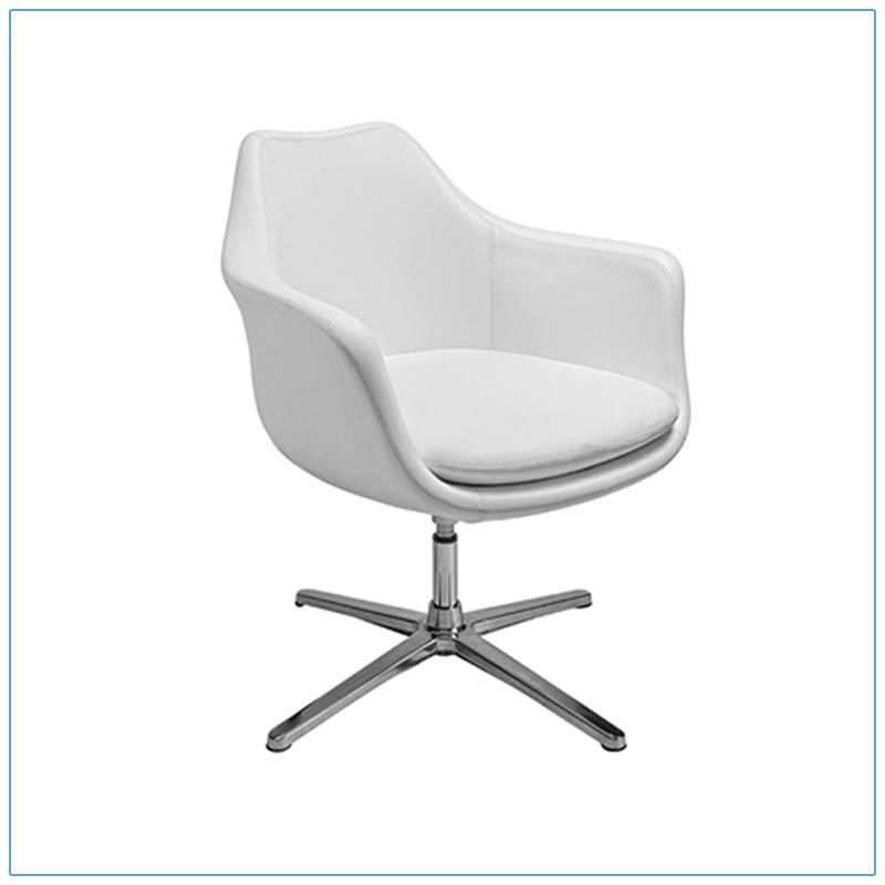 Giovana Lounge Chairs - White - LV Exhibit Rentals in Las Vegas
