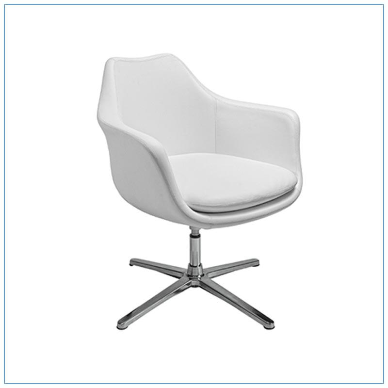 Giovana Lounge Chairs - White - LV Exhibit Rentals in Las Vegas