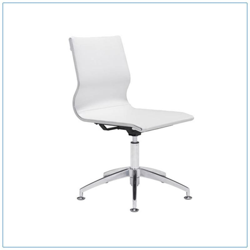 Glider Conference Chairs - White - LV Exhibit Rentals in Las Vegas