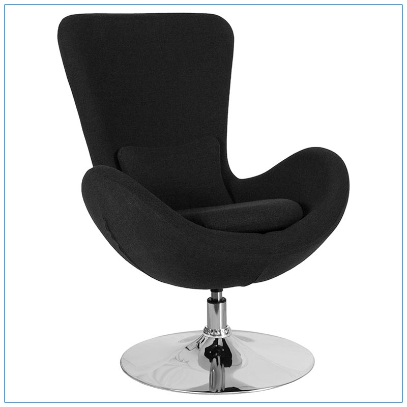 Grand Lounge Chairs - Black - LV Exhibit Rentals in Las Vegas