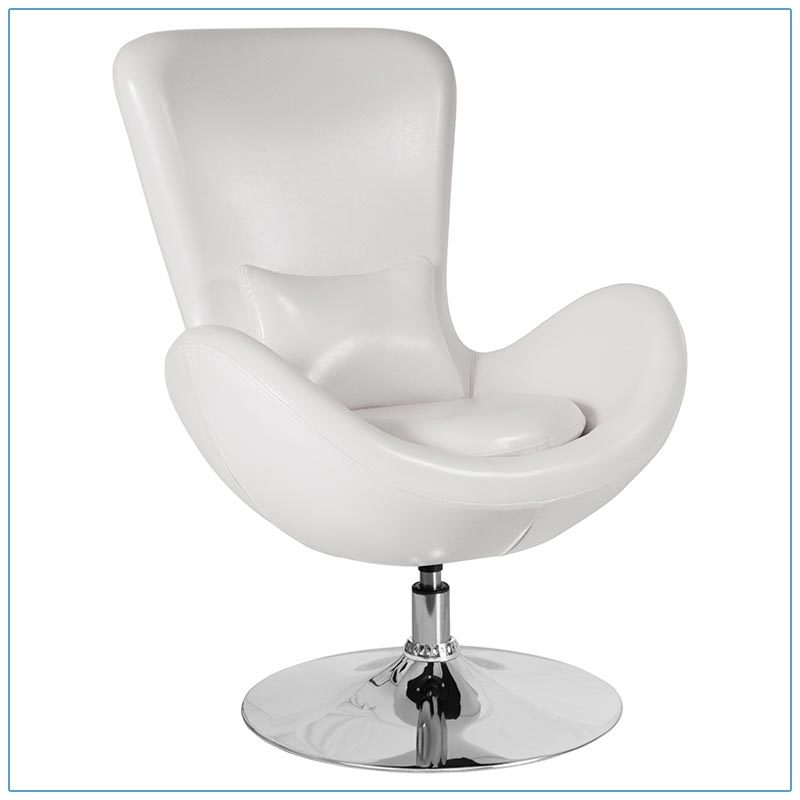 Grand Lounge Chairs - White - LV Exhibit Rentals in Las Vegas
