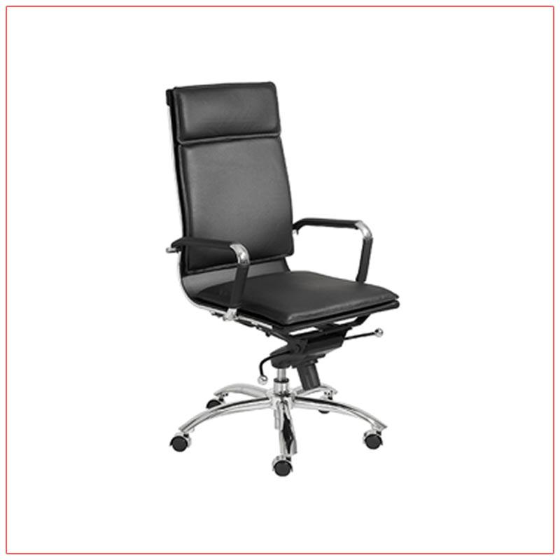 Gunar High Back Office Chairs - Black - LV Exhibit Rentals in Las Vegas
