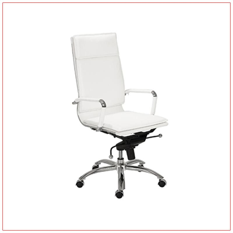 Gunar High Back Office Chairs - White - LV Exhibit Rentals in Las Vegas