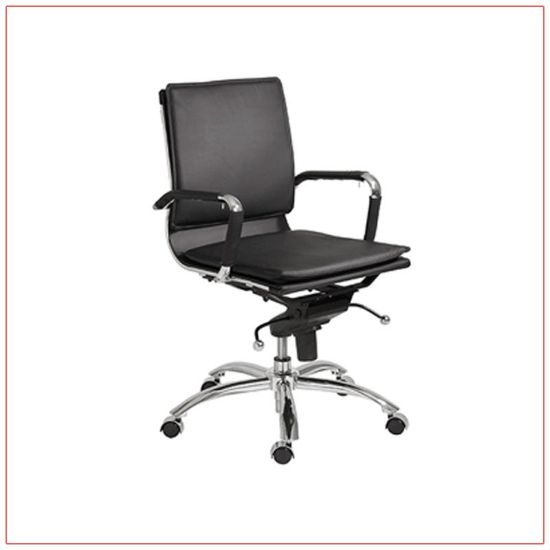 Gunar Low Back Office Chairs - Black - LV Exhibit Rentals in Las Vegas