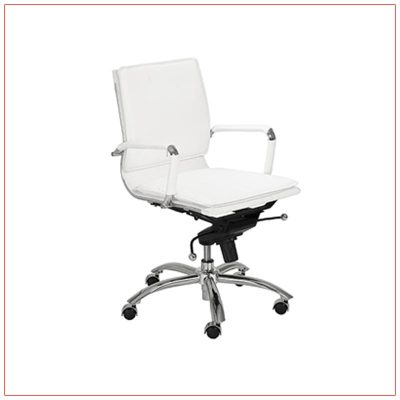 Gunar Low Back Office Chairs - White - LV Exhibit Rentals in Las Vegas