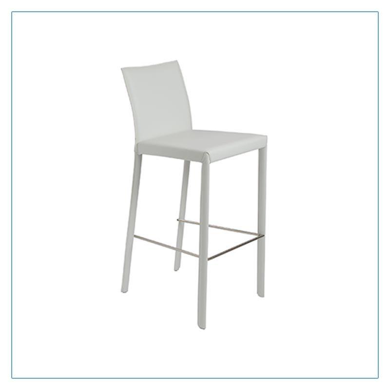 Hasina Bar Stools - White - Trade Show Furniture Rentals from LV Exhibit Rentals in Las Vegas