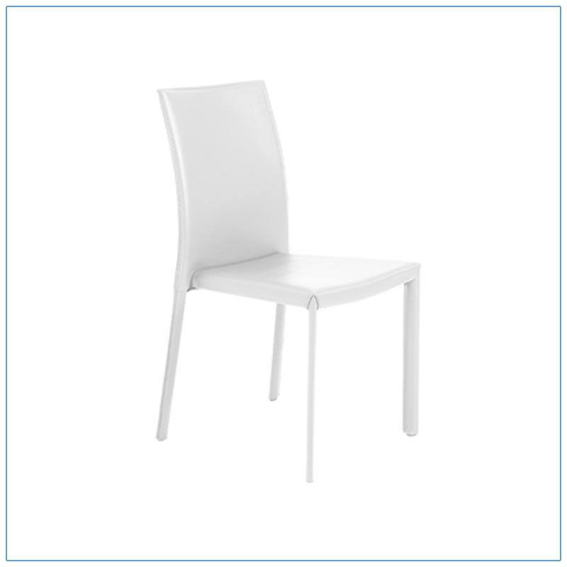 Hasina Chairs - White - LV Exhibit Rentals in Las Vegas
