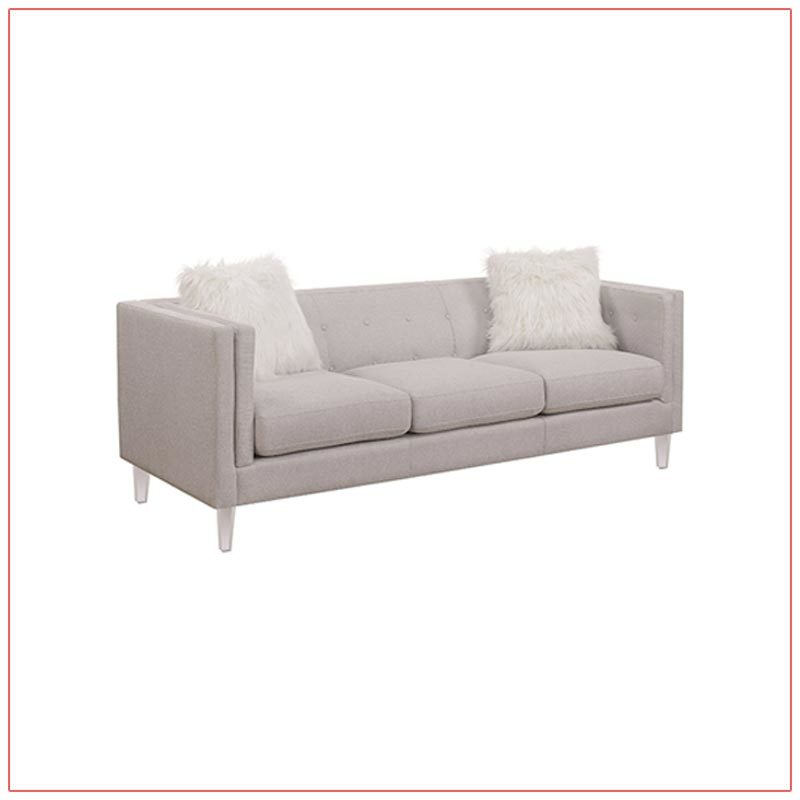 Hemet Sofa - Light Gray - LV Exhibit Rentals in Las Vegas