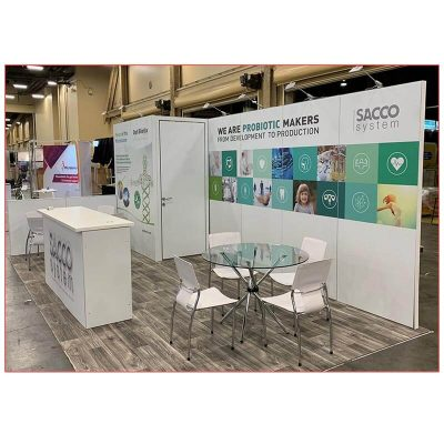Hydra 36in Cafe Table - Glass Top - LV Exhibit Rentals in Las Vegas