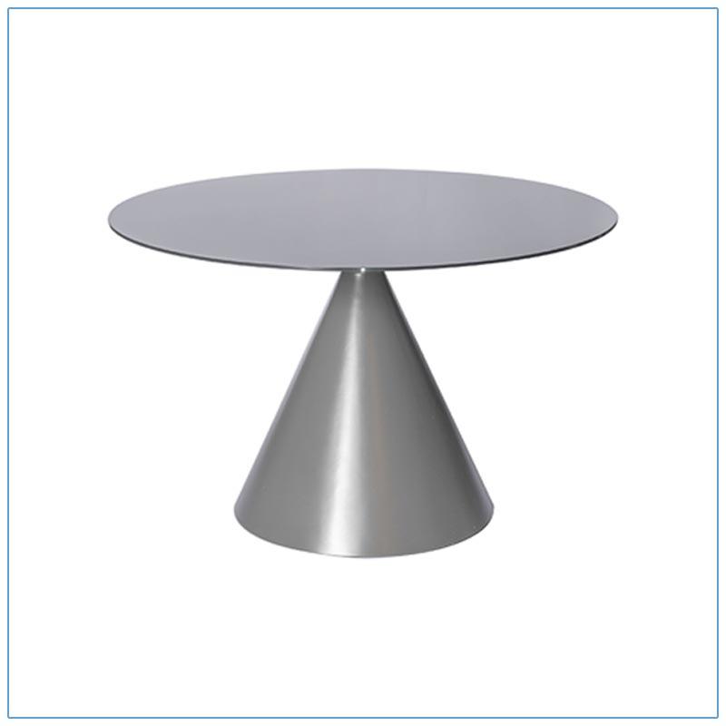 Jade 48in Conference Tables - Dark Gray - LV Exhibit Rentals in Las Vegas