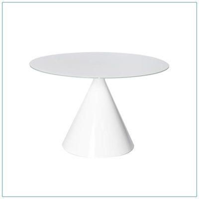 Jade 48in Conference Tables - White - LV Exhibit Rentals in Las Vegas