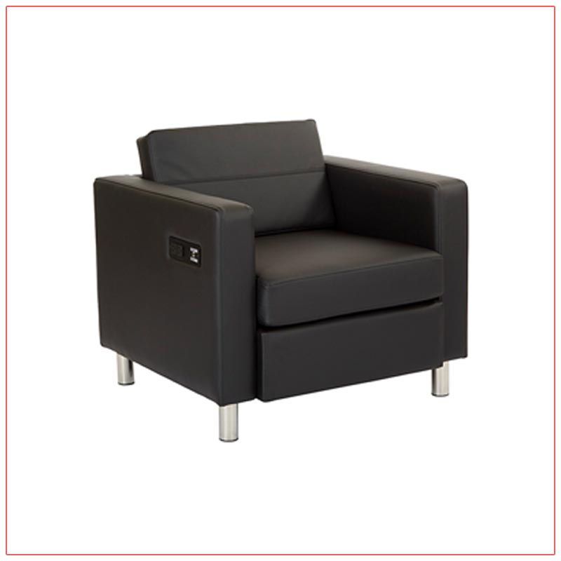 Jolt Bay Lounge Chairs - Black - LV Exhibit Rentals in Las Vegas