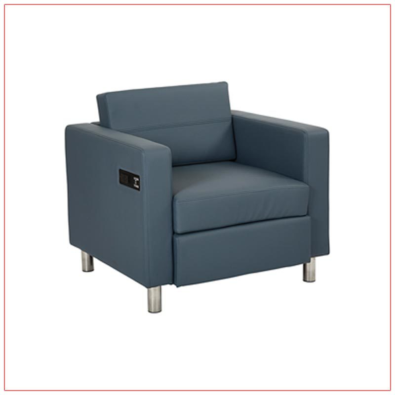 Jolt Bay Lounge Chairs - Blue - LV Exhibit Rentals in Las Vegas