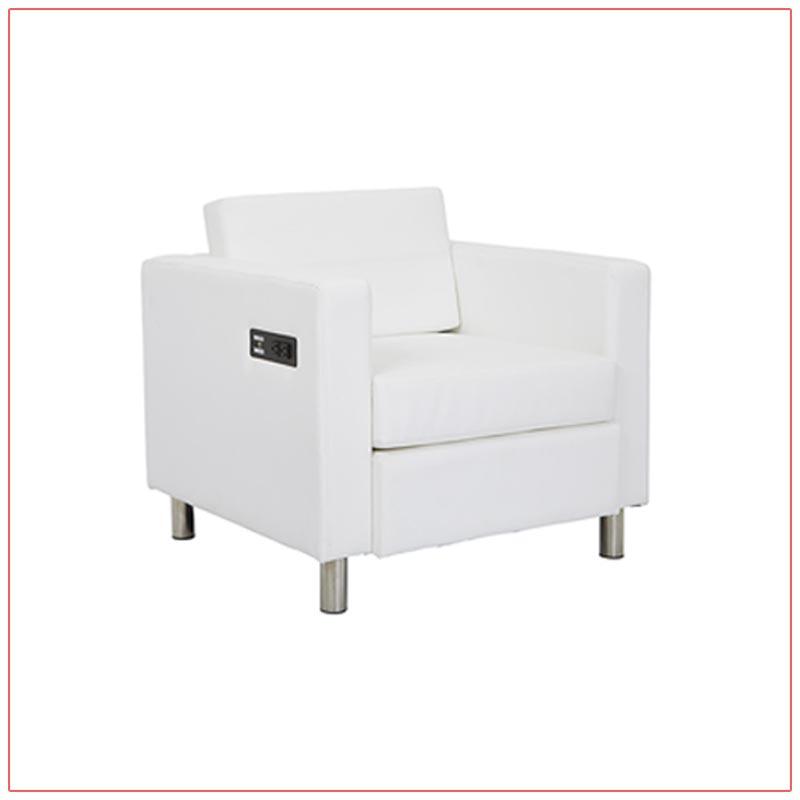 Jolt Bay Lounge Chairs - White - LV Exhibit Rentals in Las Vegas