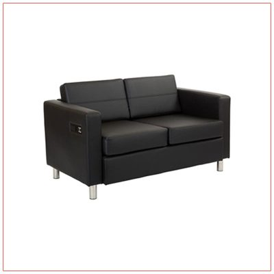 Jolt Bay Loveseat - Black - LV Exhibit Rentals in Las Vegas