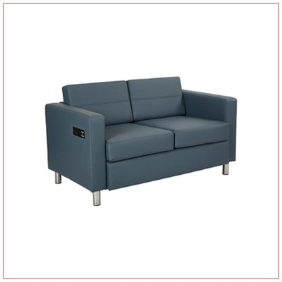 Jolt Bay Loveseat - Blue - LV Exhibit Rentals in Las Vegas