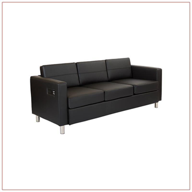 Jolt Bay Sofa - Black - LV Exhibit Rentals in Las Vegas