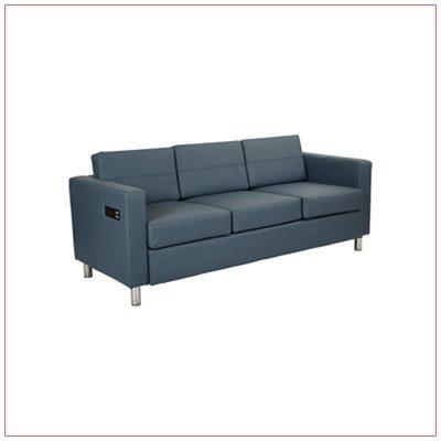 Jolt Bay Sofa - Blue - LV Exhibit Rentals in Las Vegas