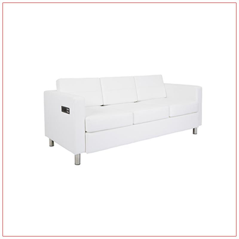 Jolt Bay Sofa - White - LV Exhibit Rentals in Las Vegas