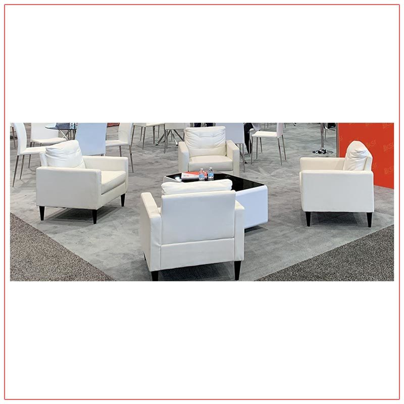 Jolt Sobro Coffee Tables - White - LV Exhibit Rentals in Las Vegas