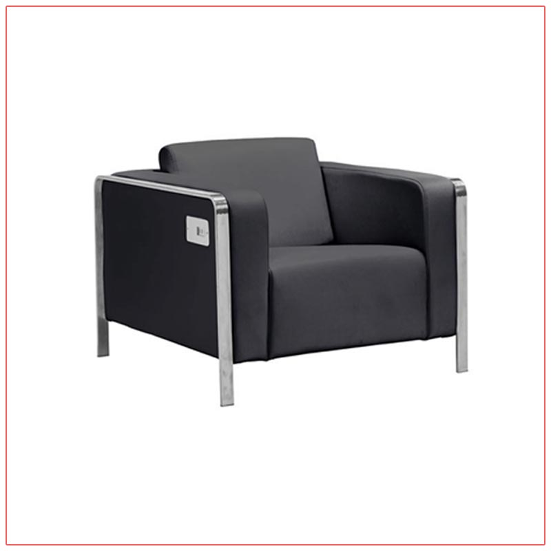 Jolt USB Arm Lounge Chairs - Black - LV Exhibit Rentals in Las Vegas