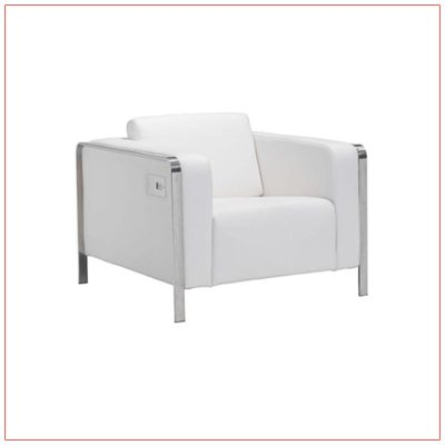 Jolt USB Arm Lounge Chairs - White - LV Exhibit Rentals in Las Vegas