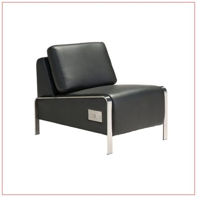 Jolt USB Armless Lounge Chairs - Black - LV Exhibit Rentals in Las Vegas
