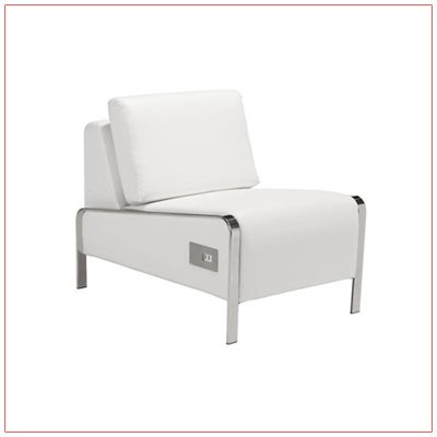 Jolt USB Armless Lounge Chairs - White - LV Exhibit Rentals in Las Vegas