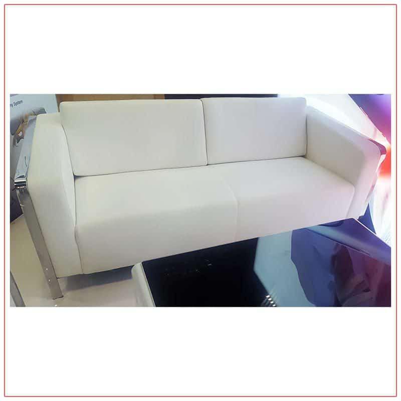 Jolt USB Sofa - White - LV Exhibit Rentals in Las Vegas