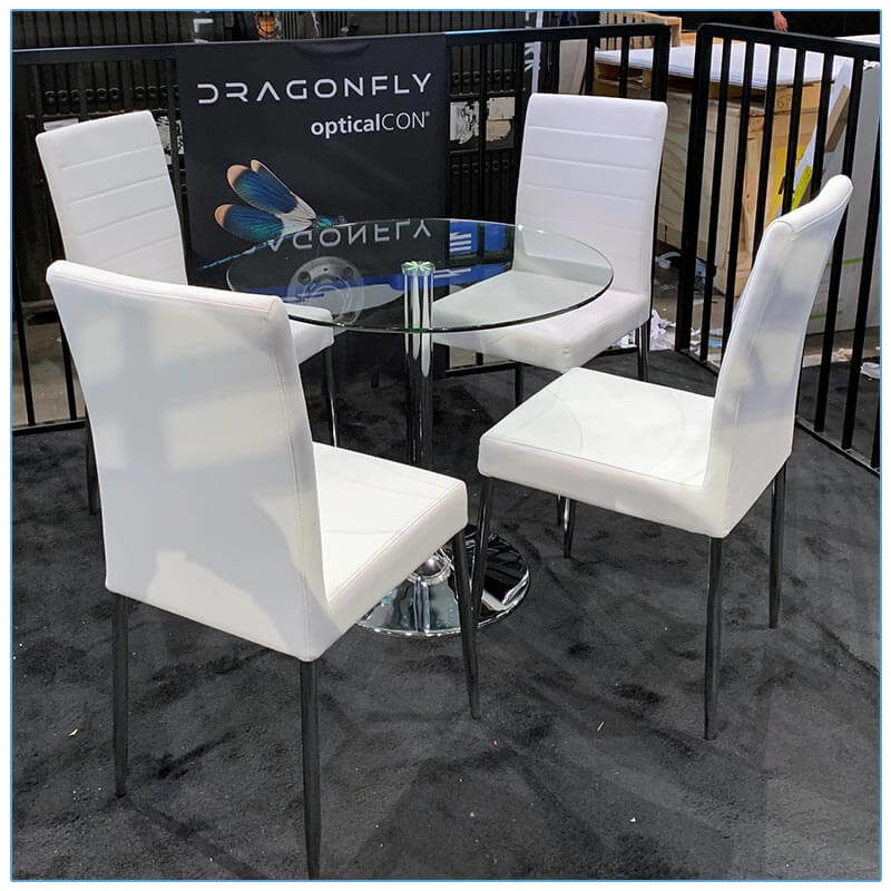 Lance Chairs in White - LV Exhibit Rentals in Las Vegas