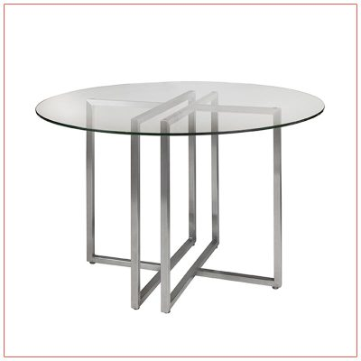 Legend Cafe Table - Glass Top - LV Exhibit Rentals in Las Vegas