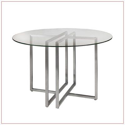 Legend Cafe Table - Glass Top - LV Exhibit Rentals in Las Vegas