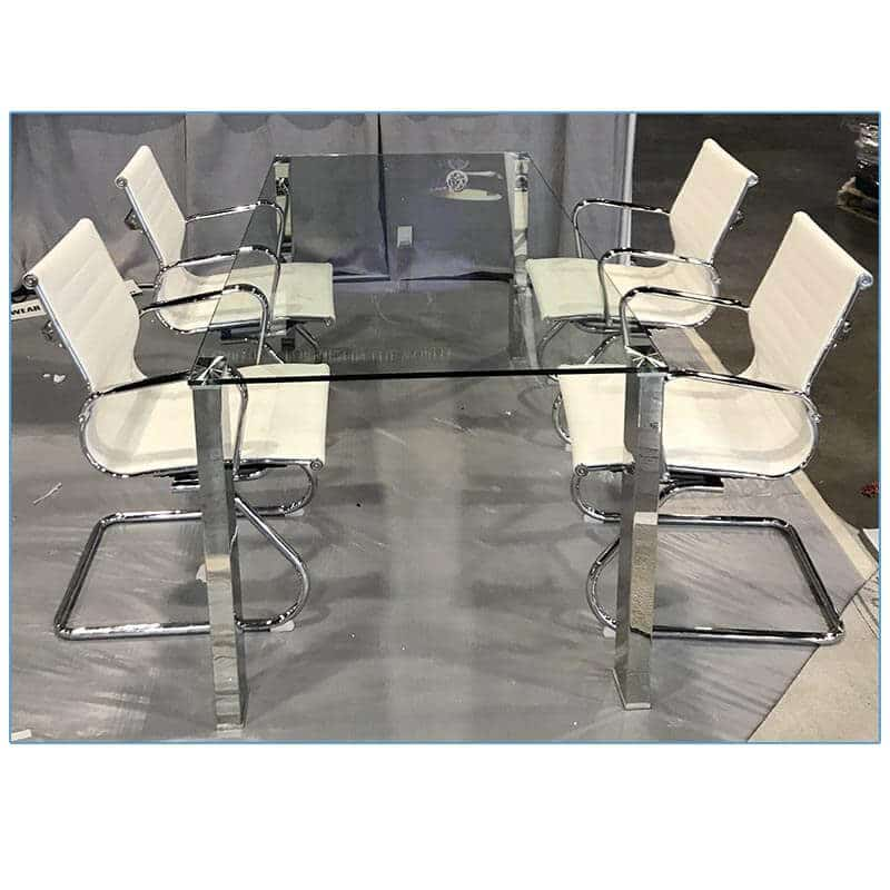 Lind Conference Chairs - White - LV Exhibit Rentals in Las Vegas