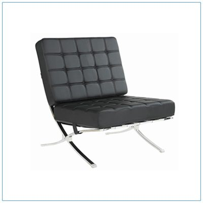 Marco Lounge Chairs - Black - LV Exhibit Rentals in Las Vegas