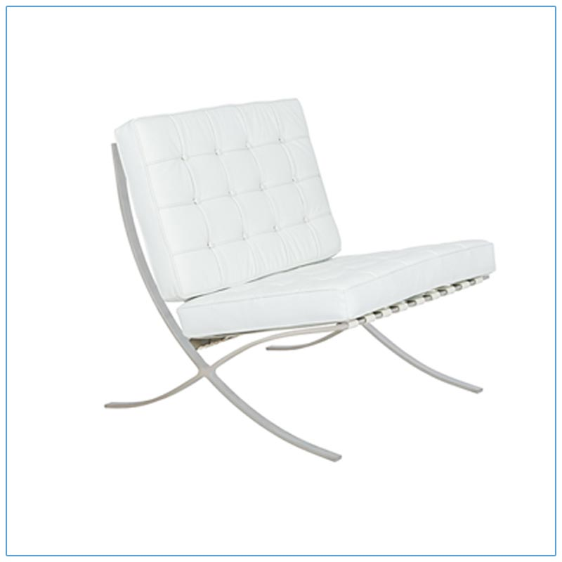 Marco Lounge Chairs - White - LV Exhibit Rentals in Las Vegas