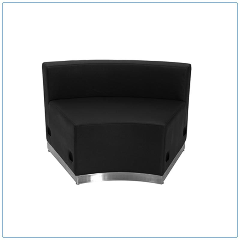 Melrose Concave Lounge Chairs - Black - LV Exhibit Rentals in Las Vegas