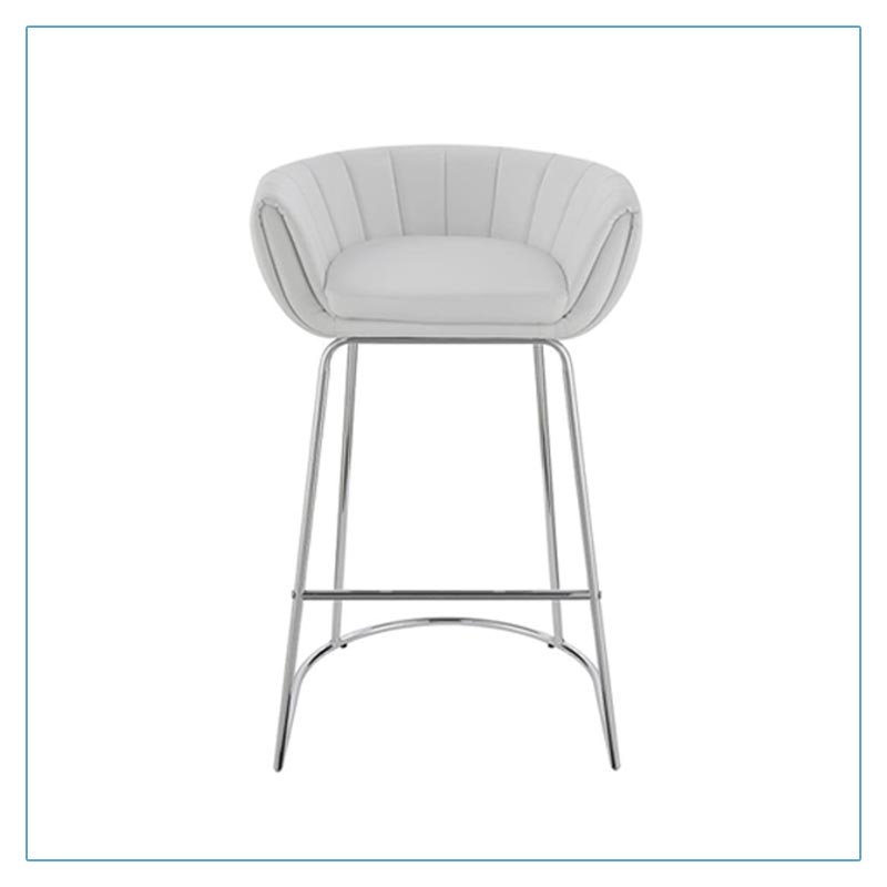 Mitch Bar Stools - White - Trade Show Furniture Rentals from LV Exhibit Rentals in Las Vegas