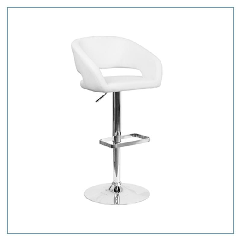 Mod Bar Stools - White - Trade Show Furniture Rentals from LV Exhibit Rentals in Las Vegas