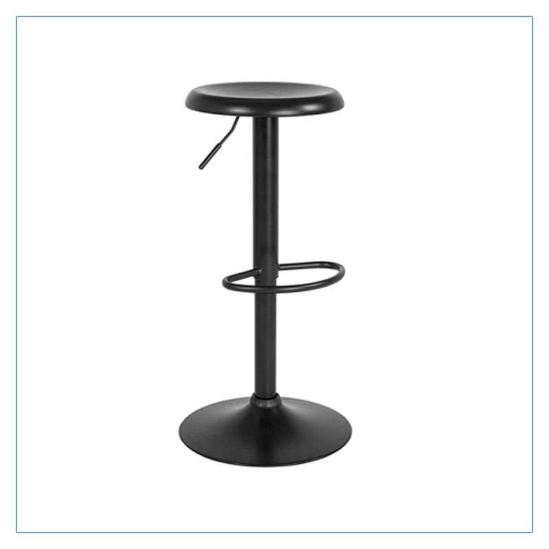 Orbit Bar Stools - Black - Trade Show Furniture Rentals from LV Exhibit Rentals in Las Vegas