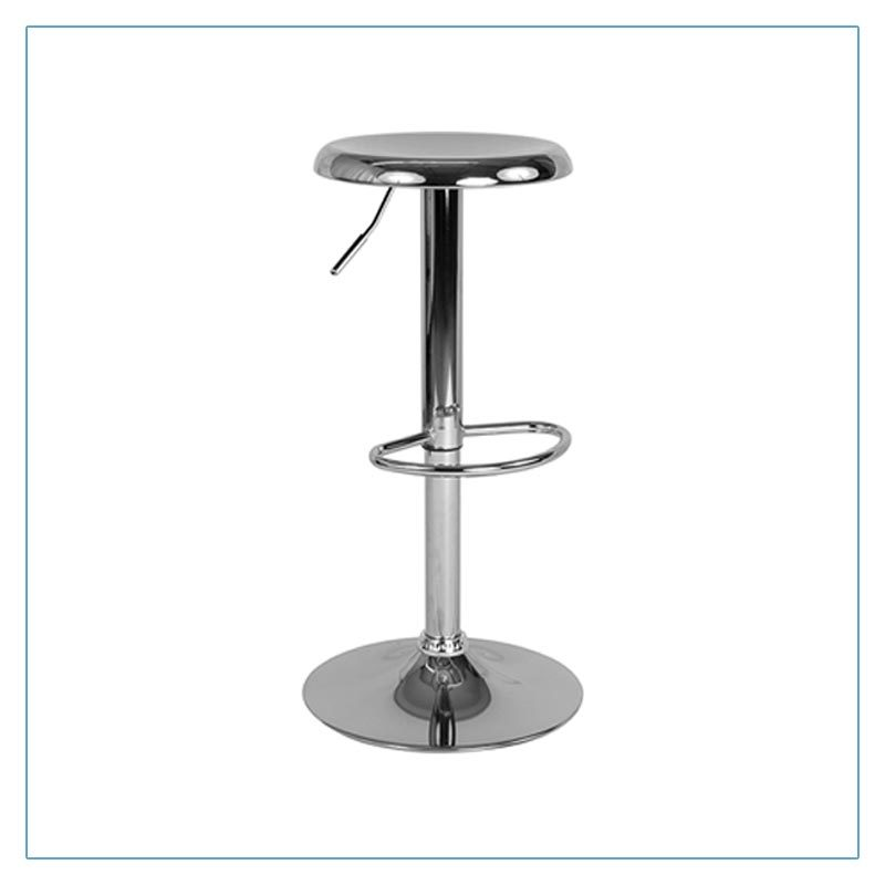 Orbit Bar Stools - Chrome - Trade Show Furniture Rentals from LV Exhibit Rentals in Las Vegas