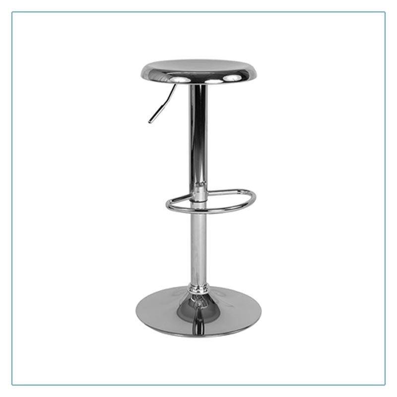 Orbit Bar Stools - Chrome - Trade Show Furniture Rentals from LV Exhibit Rentals in Las Vegas