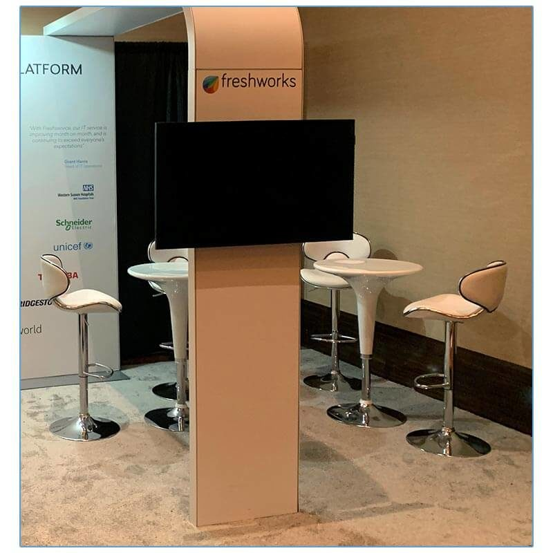 Oxbow Adjustable Bar Stools - White - LV Exhibit Rentals in Las Vegas